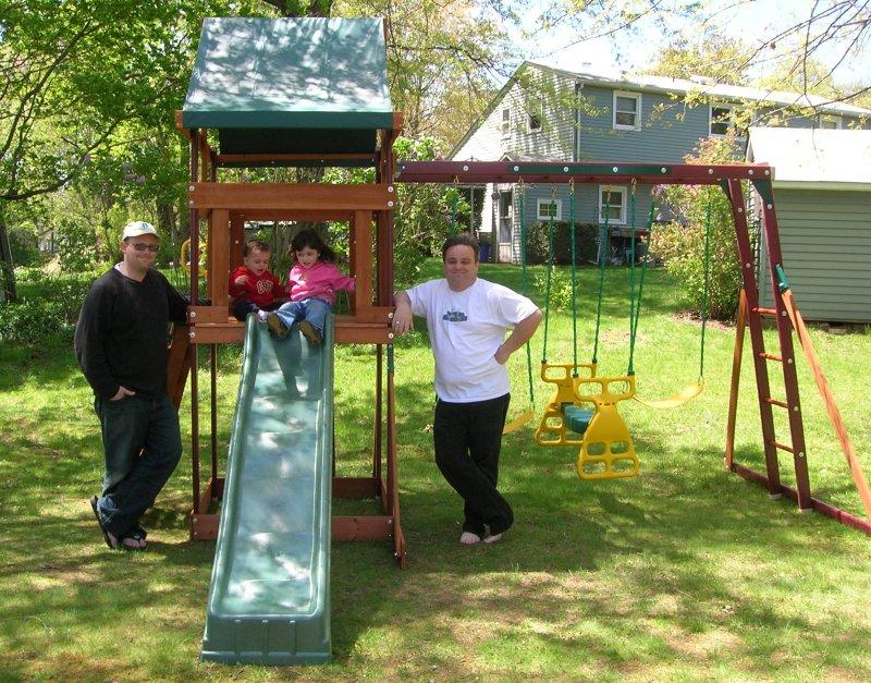 Michael, Aidan, Priya, Uncle Vinny