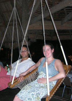 Meg & Jason on Kuyaba barstool-chair-hammock thingies